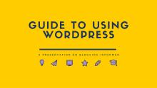 Guide to Using WordPress